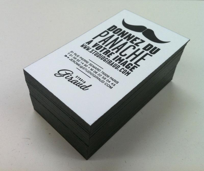Impression Carte De Visite 85 X 55 Cm Dbossage 1 Couleurs Sur Papier 500g Couleur Tranches Design Par Studio Giraud