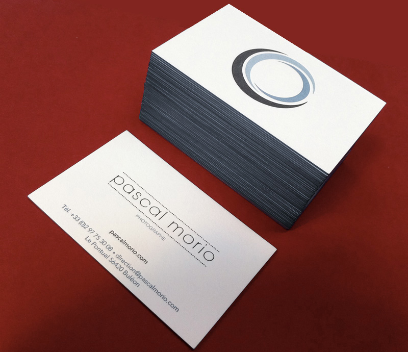 Impression Carte De Visite 85 X 55 Cm Debossage 3 Couleurs R 2 V Couleur Sur Tranche Papier Contrecolle 300g