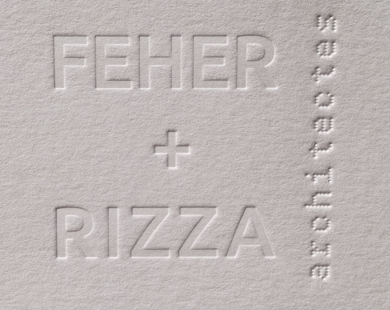 Carte De Visite Letterpress Feher Rizza Architectes