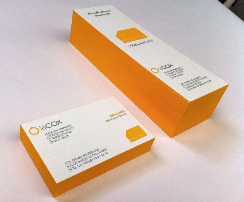 Impression Carte De Visite 84 X 54 Cm Dbossage 2 Couleurs R Sur Papier 500g Couleur Tranches