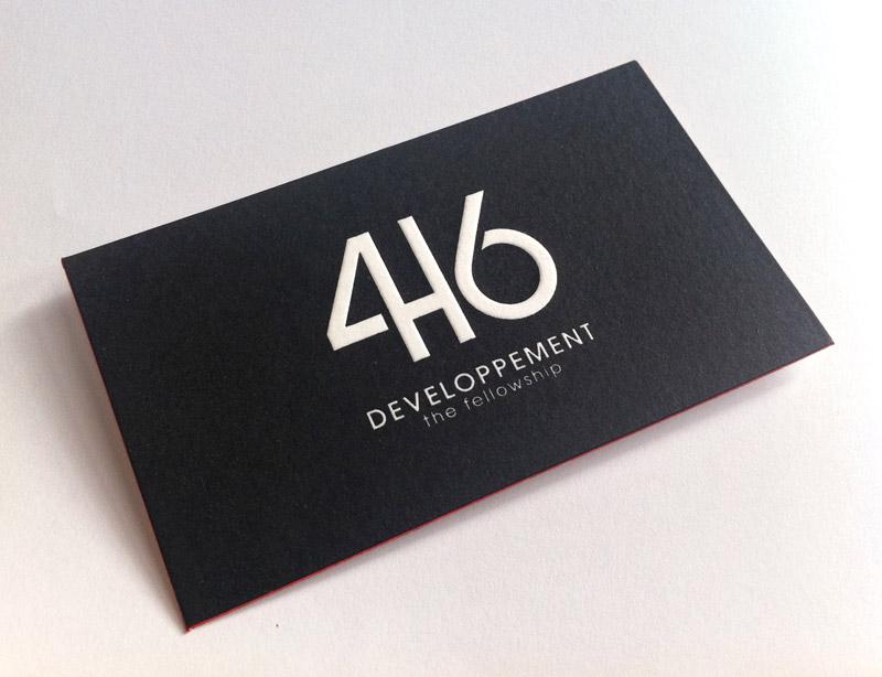 Impression Carte De Visite 85 X 55 Cm 1 Couleur R Sur Tranches Papier 500g