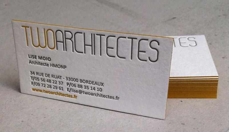 Carte De Visite Architectes Ralisations Impression