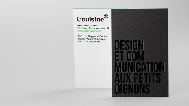 Design Par La Cuisine Carte De Visite Solutions Entrepreneuriales