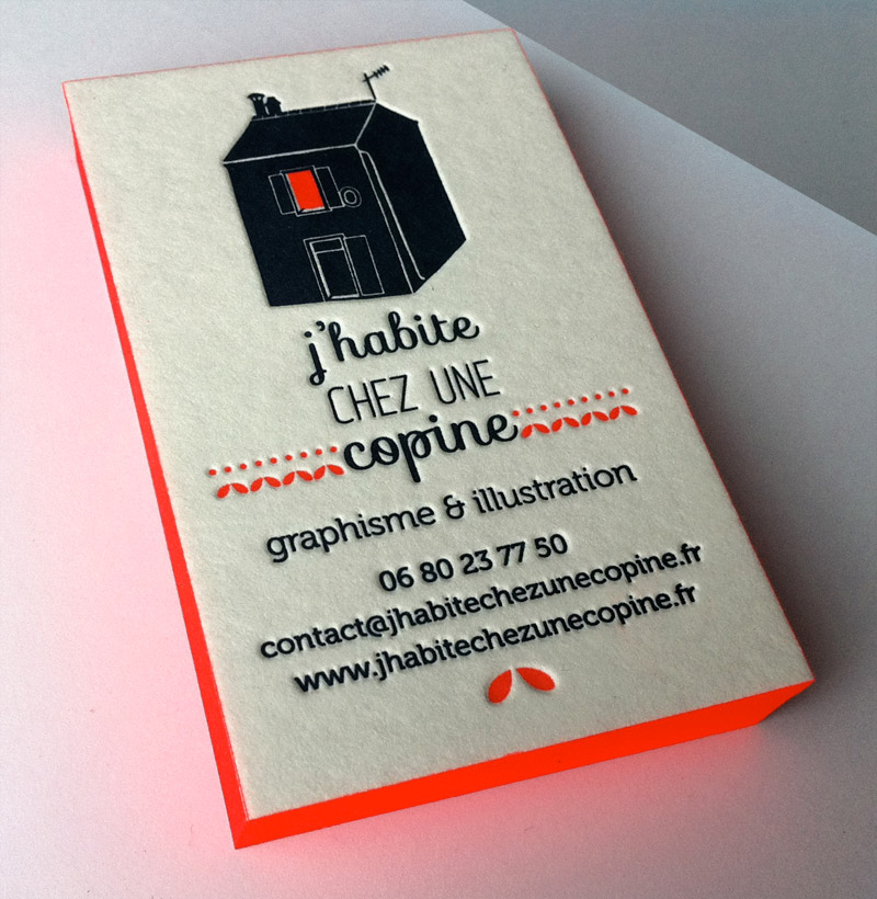 Bevorzugt Badcass - Carte de visite en letterpress - Graphisme et illustration XQ86
