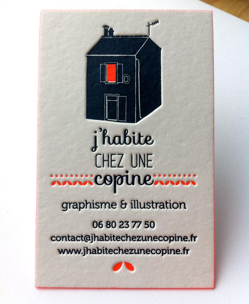 Impression Carte De Visite 85 X 55 Cm Debossage 2 Couleurs R Papier Naturel 500g Finition Couleur Sur Tranches
