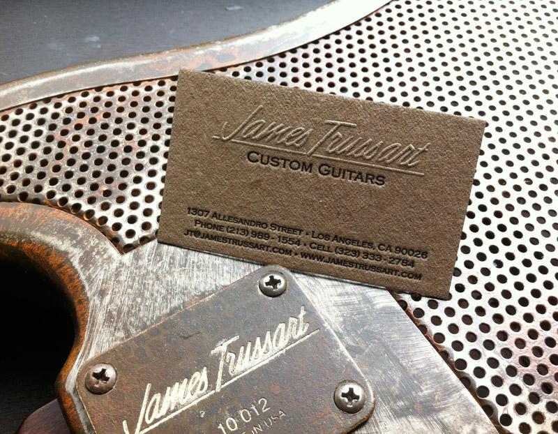 Carte De Visite Lutherie Guitare En Acier Realisations