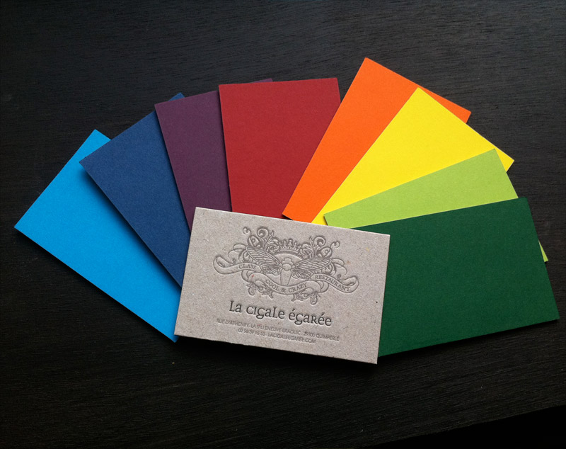 Impression Carte De Visite 85 X 55 Cm Debossage 2 Couleurs R Papier Contrecolle Carton 400g Couleur 290g