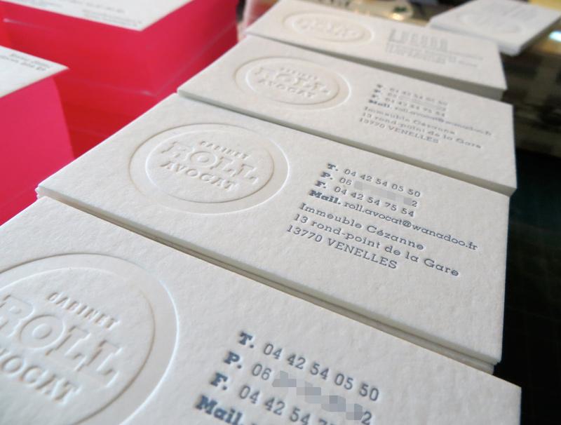 Bevorzugt Carte de visite letterpress Avocats JM08