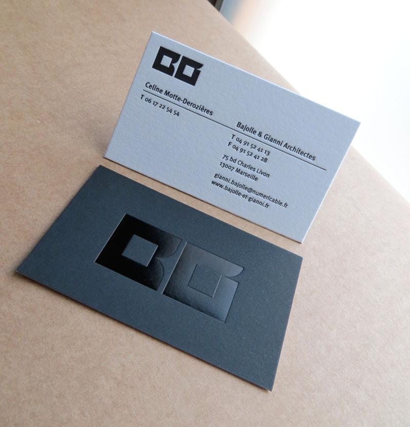 Carte De Visite Letterpress Architectes