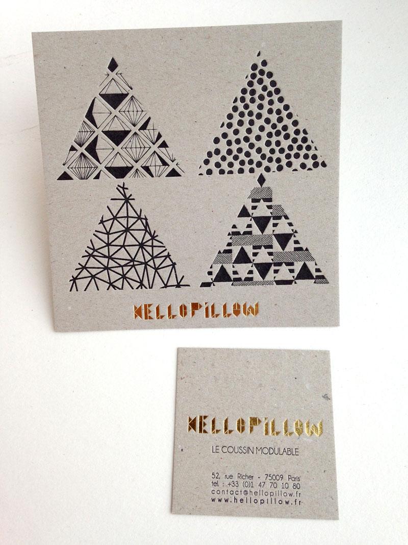 Carte De Visite Letterpress Objets Textiles Cratifs