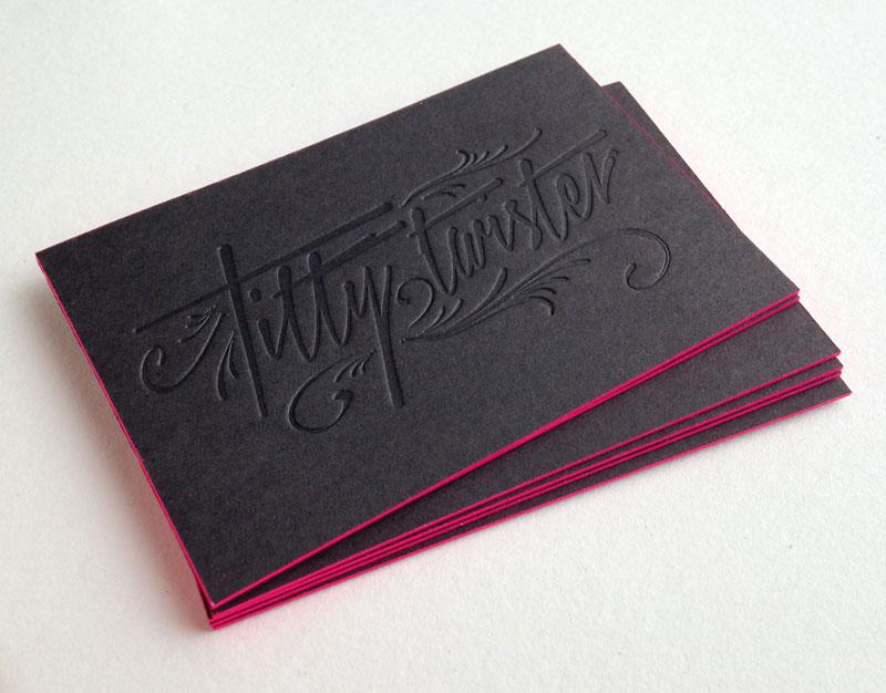 Fabuleux Carte de visite letterpress Bar/club CC79