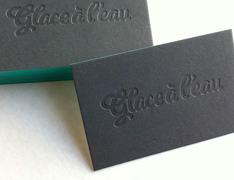 Design Par Glace Leau Cartes De Visites Agence Cration Graphique