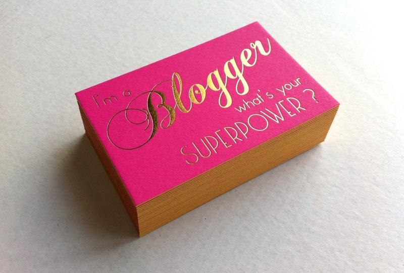 Carte De Visite Bloggeuse