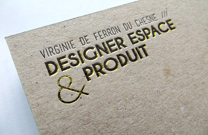 Design Virginie De Ferron Du Chesne Carte Visite Graphiste