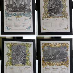 Badcass - Calendrier 2014 en letterpress