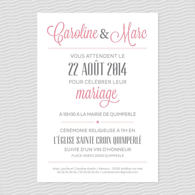 badcass classico faire part de mariage letterpress. Black Bedroom Furniture Sets. Home Design Ideas