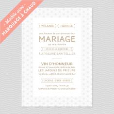Badcass - Faire-part de mariage en letterpress