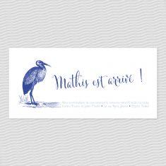 Badcass - Faire-part de naissance en letterpress - 1 couleur
