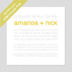 Badcass - Faire-part de mariage en letterpress - 1 couleur & 1 débossage pur