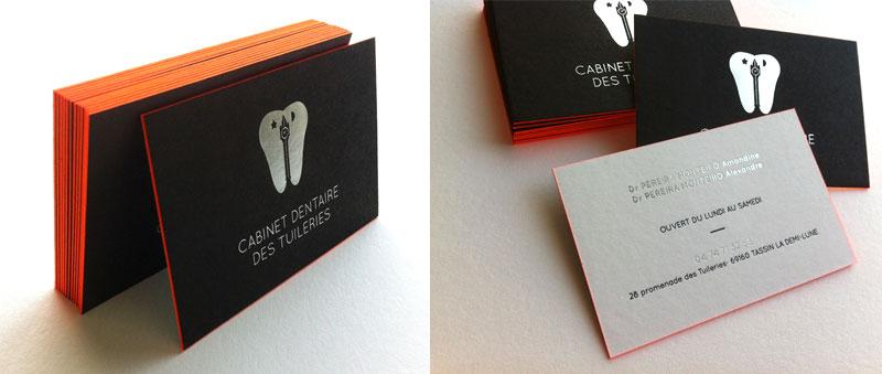 Badcass - Carte de visite en letterpress - Cabinet dentaire