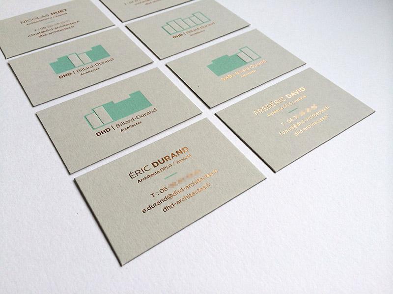 Badcass - Carte de visite en letterpress - Architectes