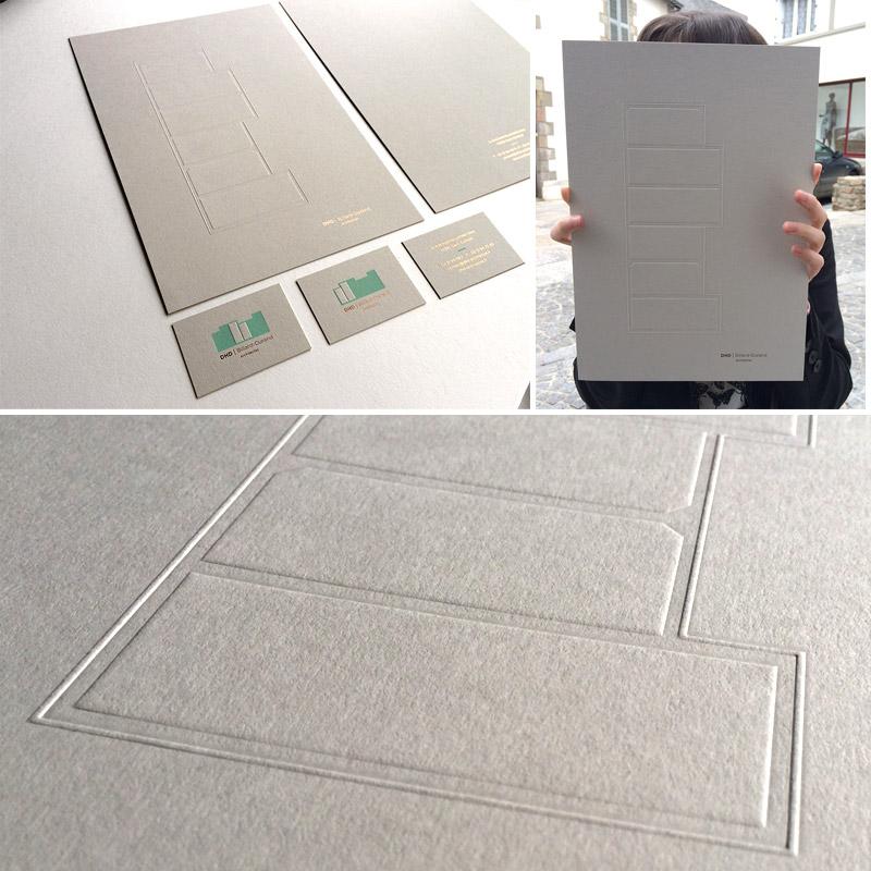 Badcass - Carte de visite et couverture en letterpress - Architectes