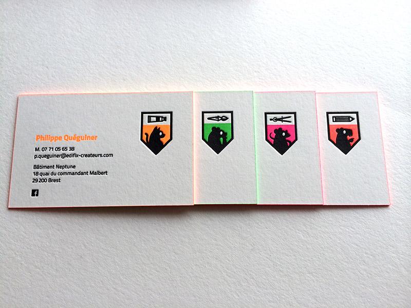 Badcass - Carte de visite en letterpress - Décoration d'intérieur