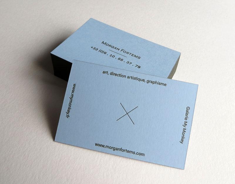 Badcass - Carte de visite en letterpress - Direction artistique