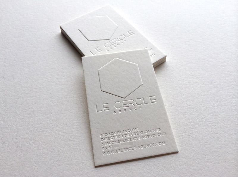 Badcass - Carte de visite en letterpress - Agence créative