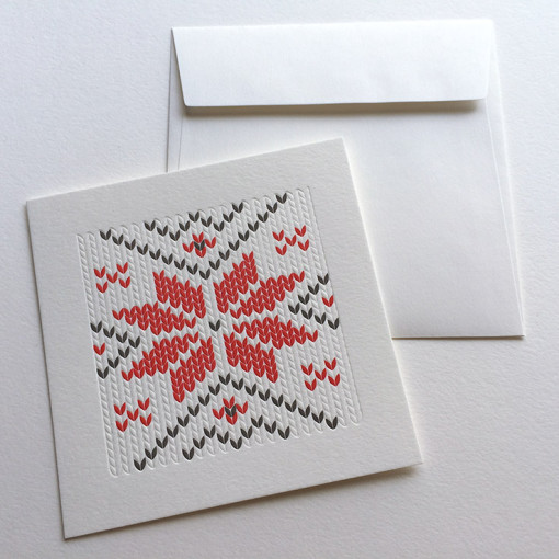 Badcass - Carte de Noël en letterpress