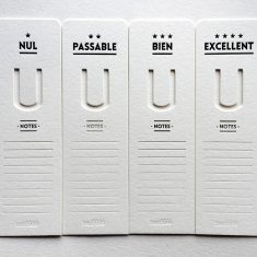 Badcass - Lot de marque-pages en letterpress