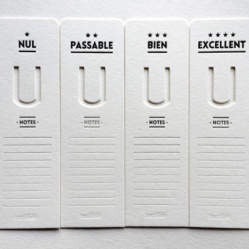 Badcass - Lot de marque-pages en letterpress