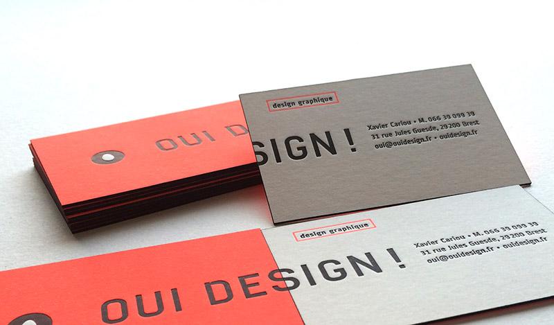 Extrêmement Carte de visite en letterpress - Designer graphique VA63