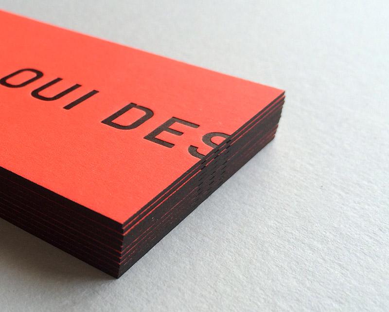 Badcass - Carte de visite en letterpress - Designer graphique