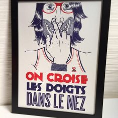 Badcass - Affiche en letterpress