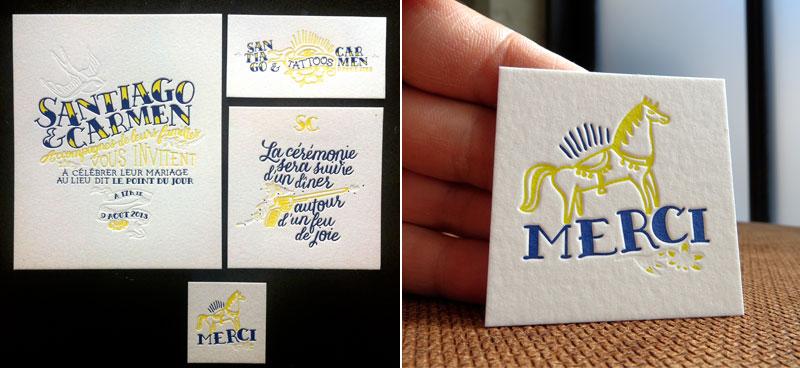 Badcass - Papeterie de mariage en letterpress
