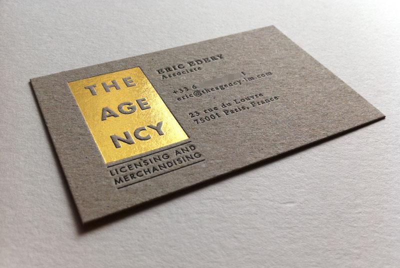 Préférence Carte de visite en letterpress - Licensing and merchandising PJ51