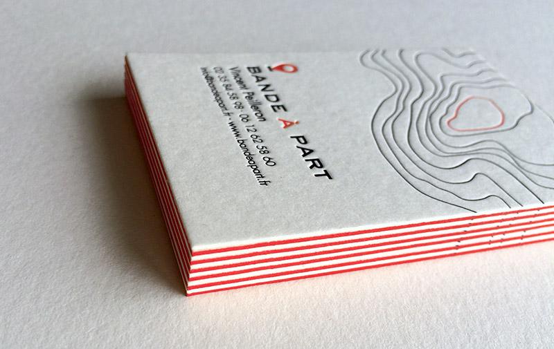 Badcass - Carte de visite en letterpress - Agence conseil en communication