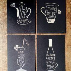 Badcass - Série de cartes en letterpress