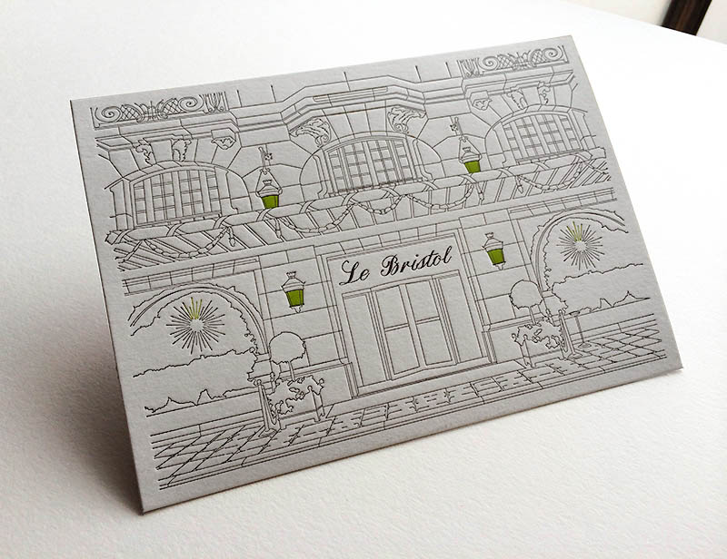 Badcass - Invitation en letterpress - Hôtel de luxe et restaurant