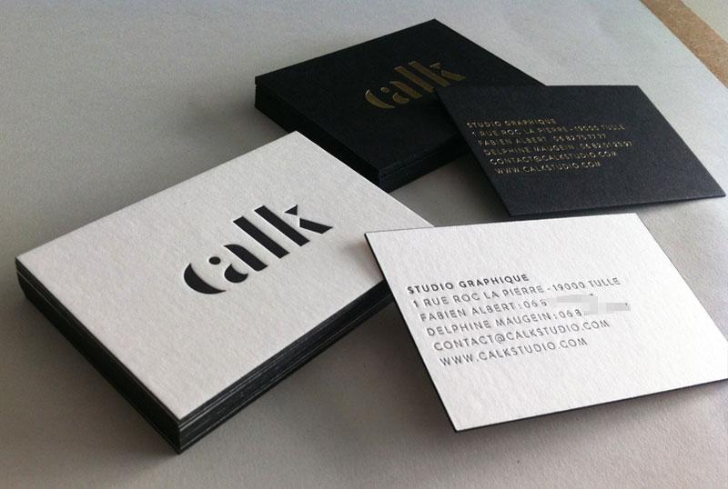 Très Carte de visite en letterpress - Studio graphique XE13