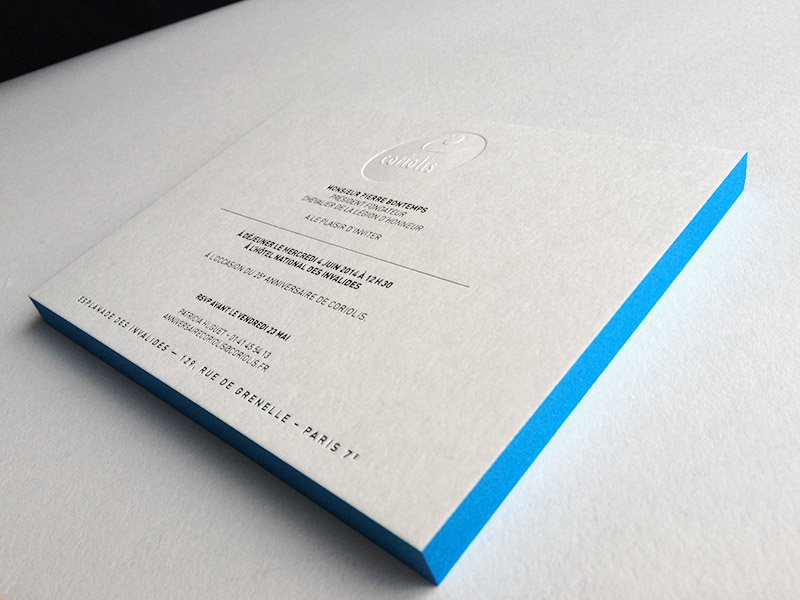 Badcass - Invitation en letterpress