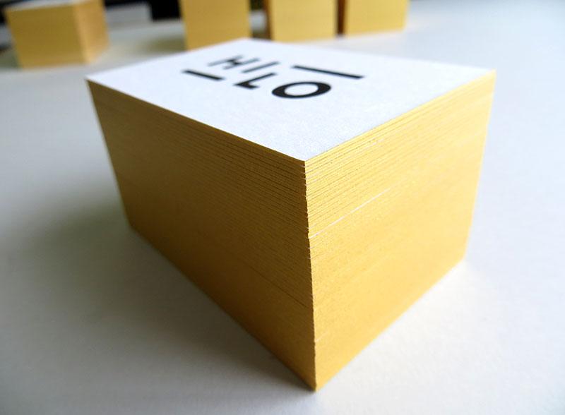 Badcass - Carte de visite en letterpress - Concept store