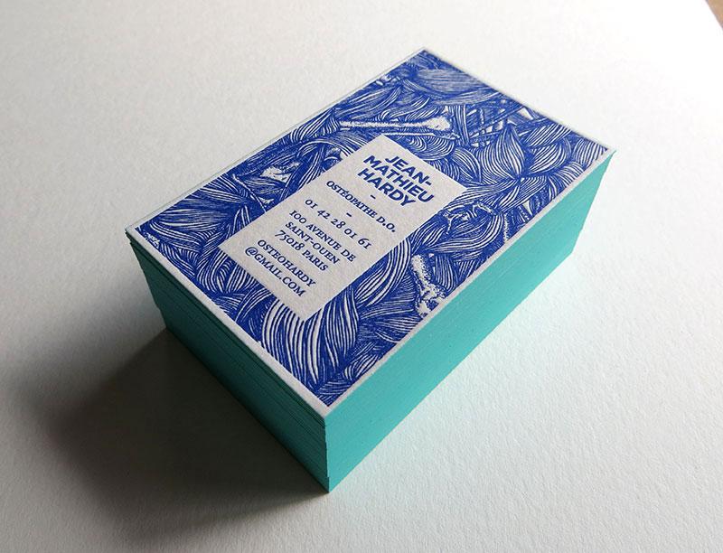 Bien-aimé Carte de visite en letterpress - Ostéopathe AL68