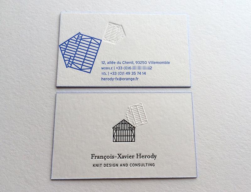 Badcass - Carte de visite en letterpress