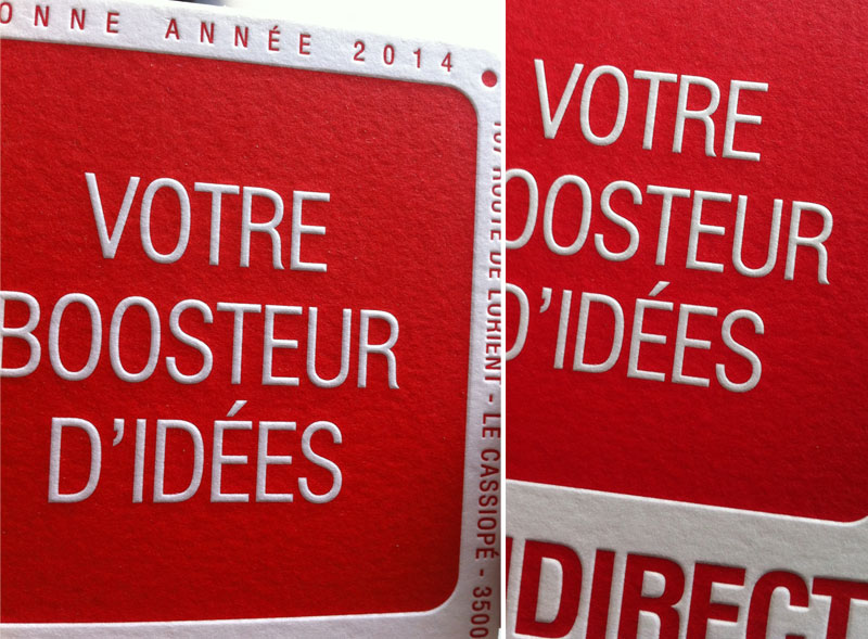 Badcass - Carte de vœux - Bureau de fabrication