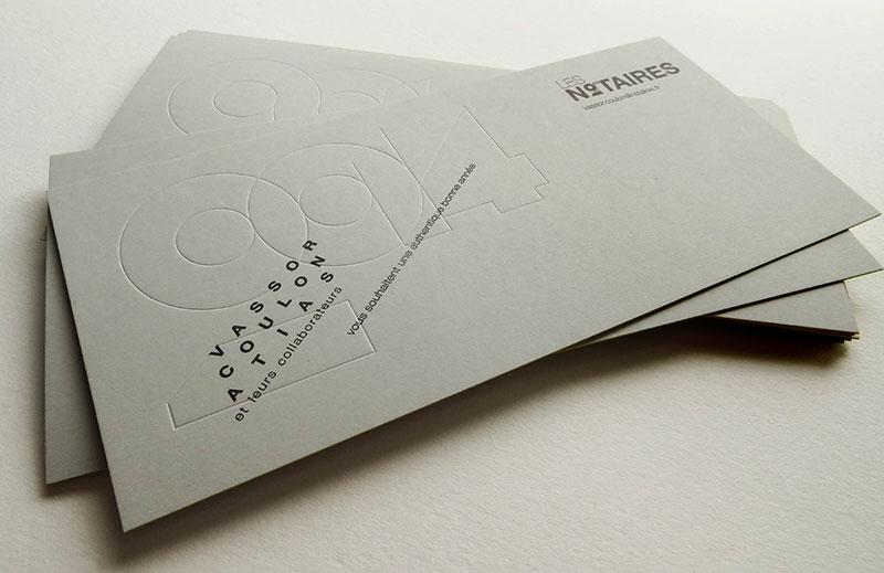 Badcass - Carte de vœux - Office notarial