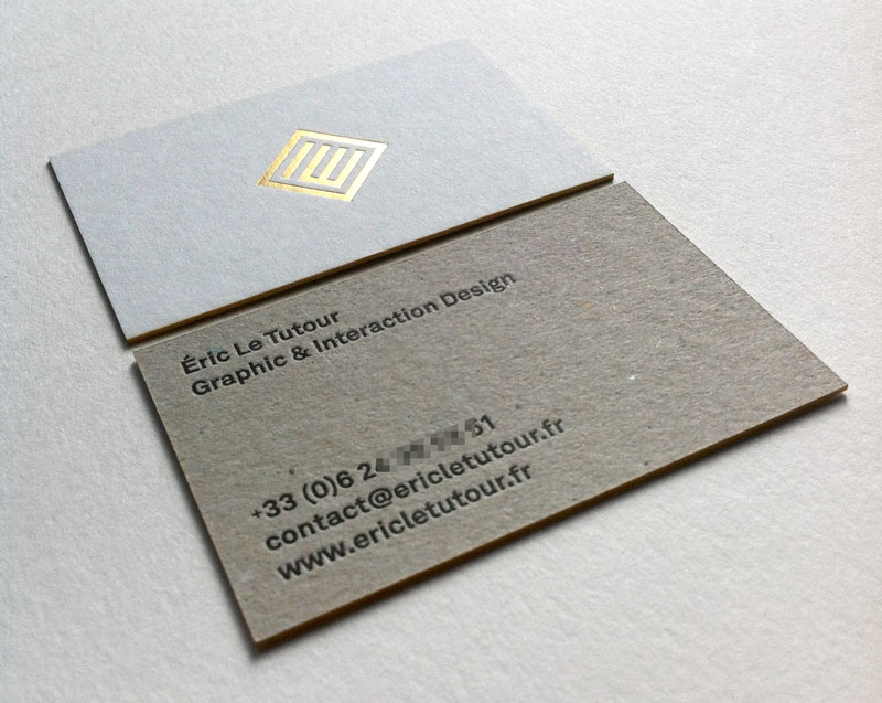 Badcass - Carte de visite en letterpress - Designer