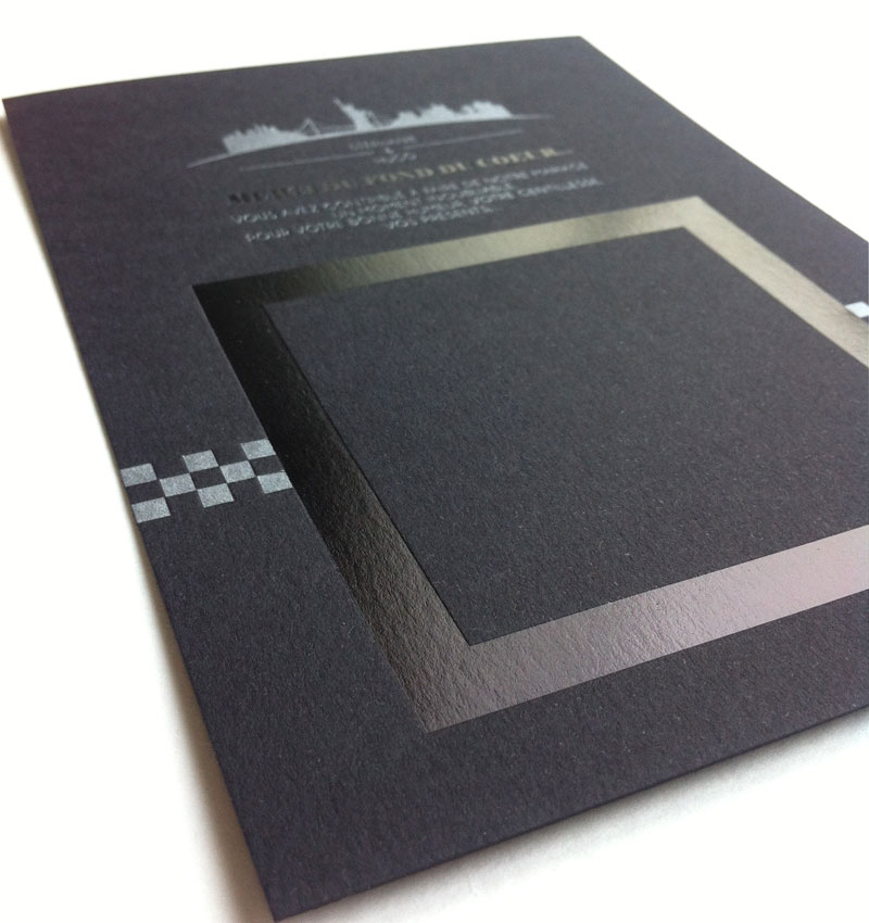 Badcass - Carte de remerciements en letterpress