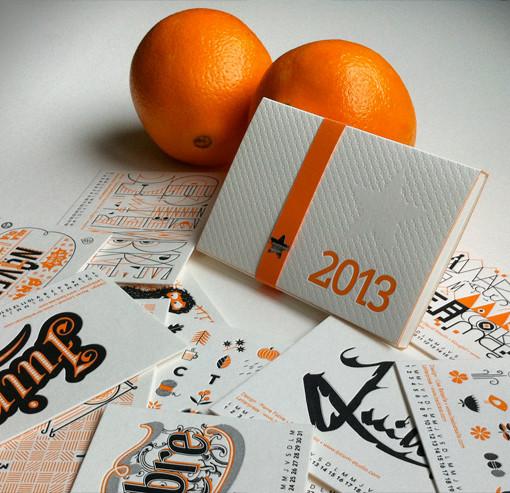 Badcass - Calendrier 2013 en letterpress